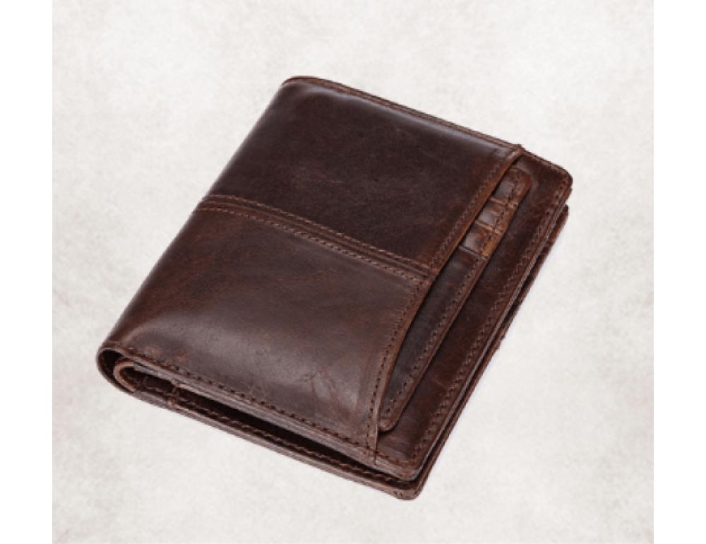 Мужской кожаный коричневый портмоне Bexhill bx0233C - Фото № 4