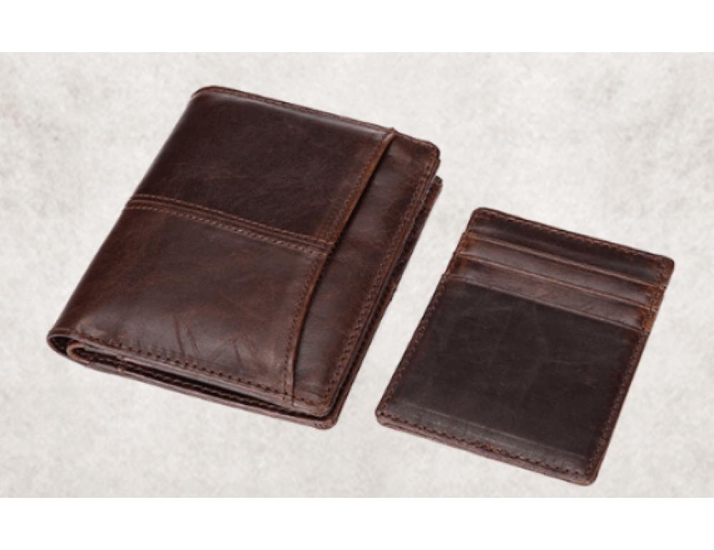 Мужской кожаный коричневый портмоне Bexhill bx0233C - Фото № 7