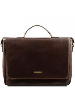 Мужская кожаная сумка через плечо PADOVA Tuscany Leather TL140891 Dark Brown