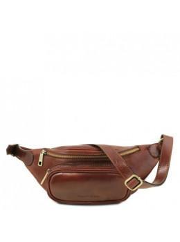Коричневая сумка на пояс мужская Tuscany Leather TL141797 Brown