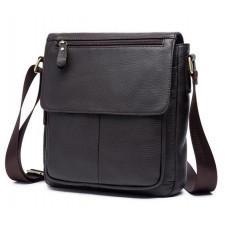 Чоловіча шкіряна сумка-месенджер Bexhill Bx819C коричневий