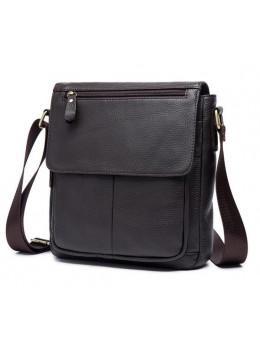 Мужская кожаная сумка-мессенджер Bexhill Bx819C коричневый
