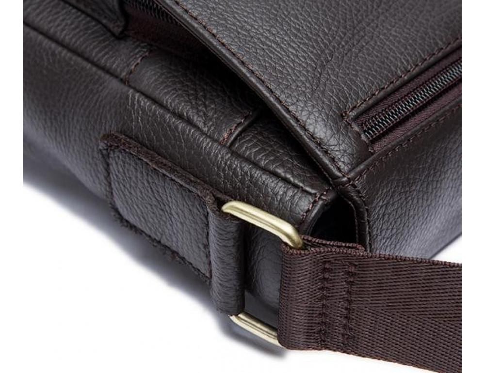 Мужская кожаная сумка-мессенджер Bexhill Bx819C коричневый - Фото № 12