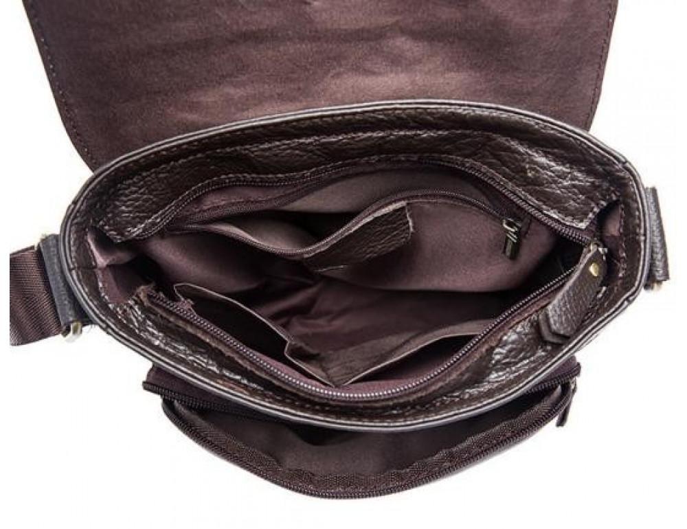 Мужская кожаная сумка-мессенджер Bexhill Bx819C коричневый - Фото № 8