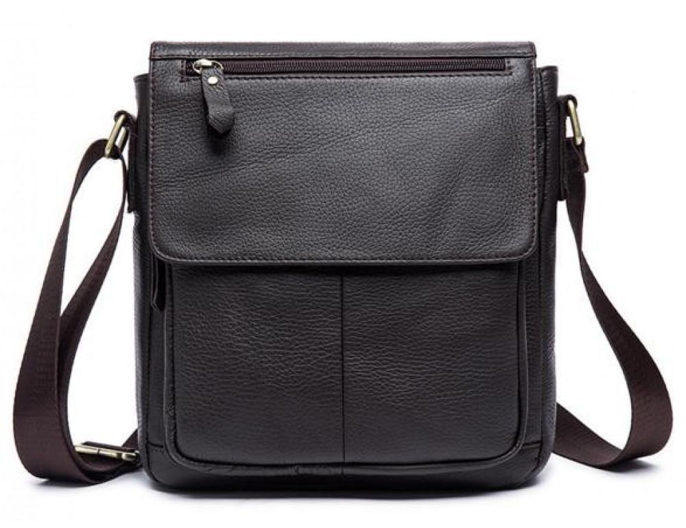 Мужская кожаная сумка-мессенджер Bexhill Bx819C коричневый - Фото № 6