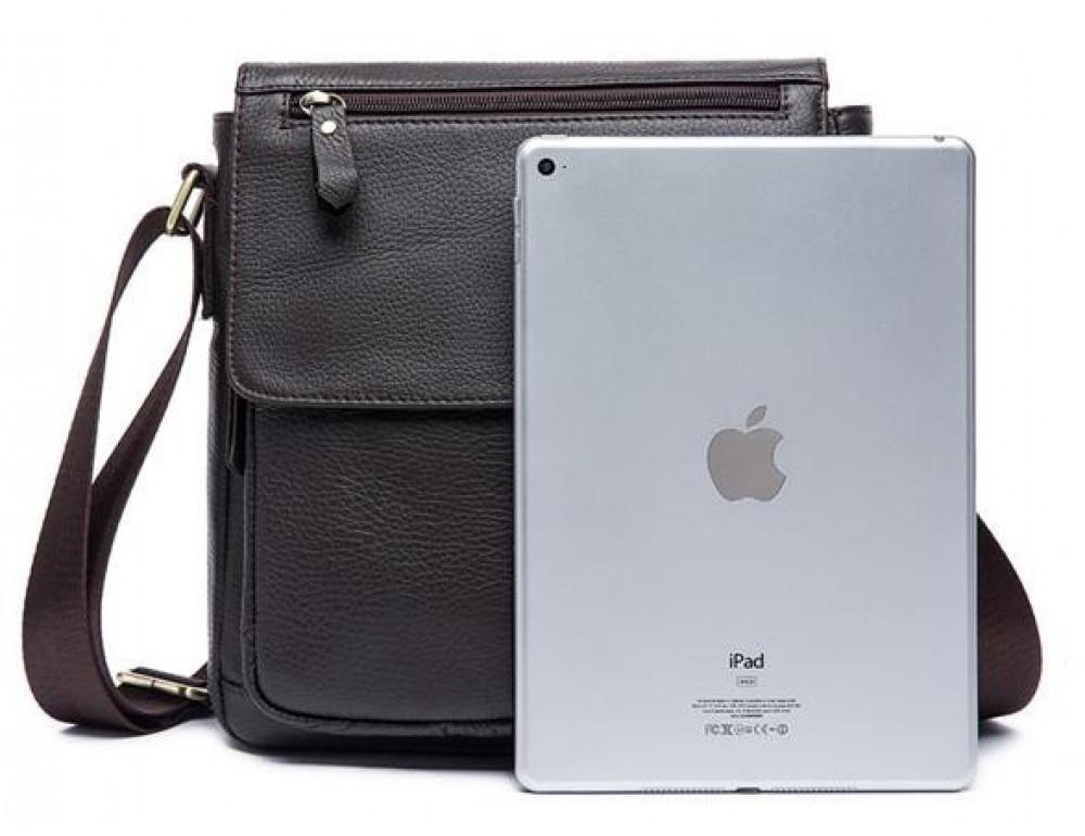 Мужская кожаная сумка-мессенджер Bexhill Bx819C коричневый - Фото № 5