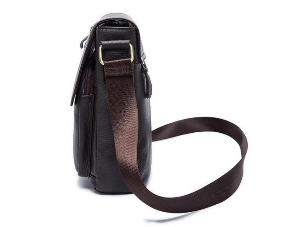 Мужская кожаная сумка-мессенджер Bexhill Bx819C коричневый - Фото № 3