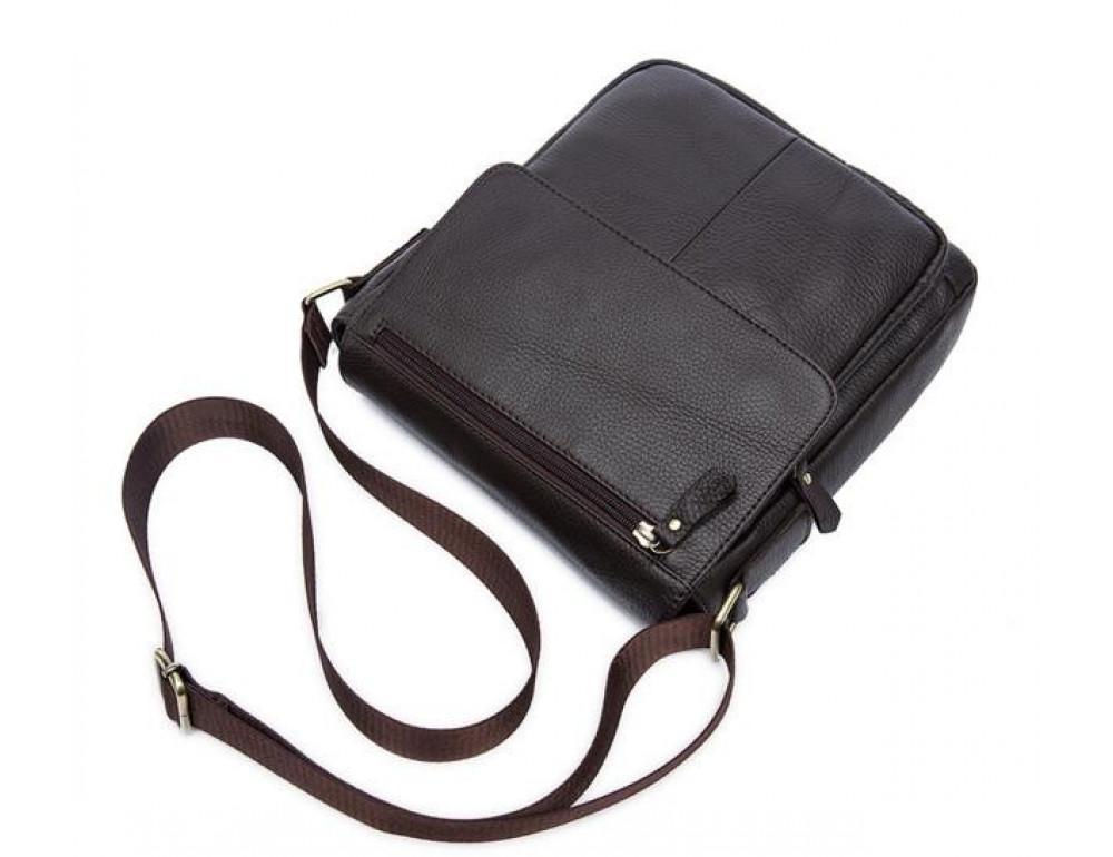 Мужская кожаная сумка-мессенджер Bexhill Bx819C коричневый - Фото № 11