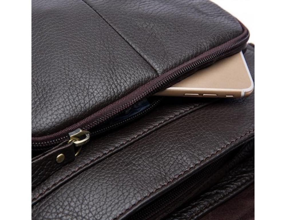 Мужская кожаная сумка-мессенджер Bexhill Bx819C коричневый - Фото № 9