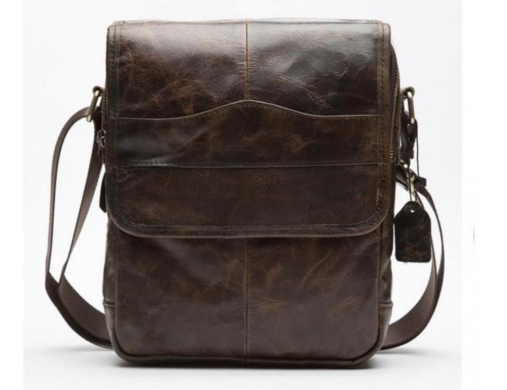 Мужская кожаная сумка-мессенджер Bexhill Bx1121C