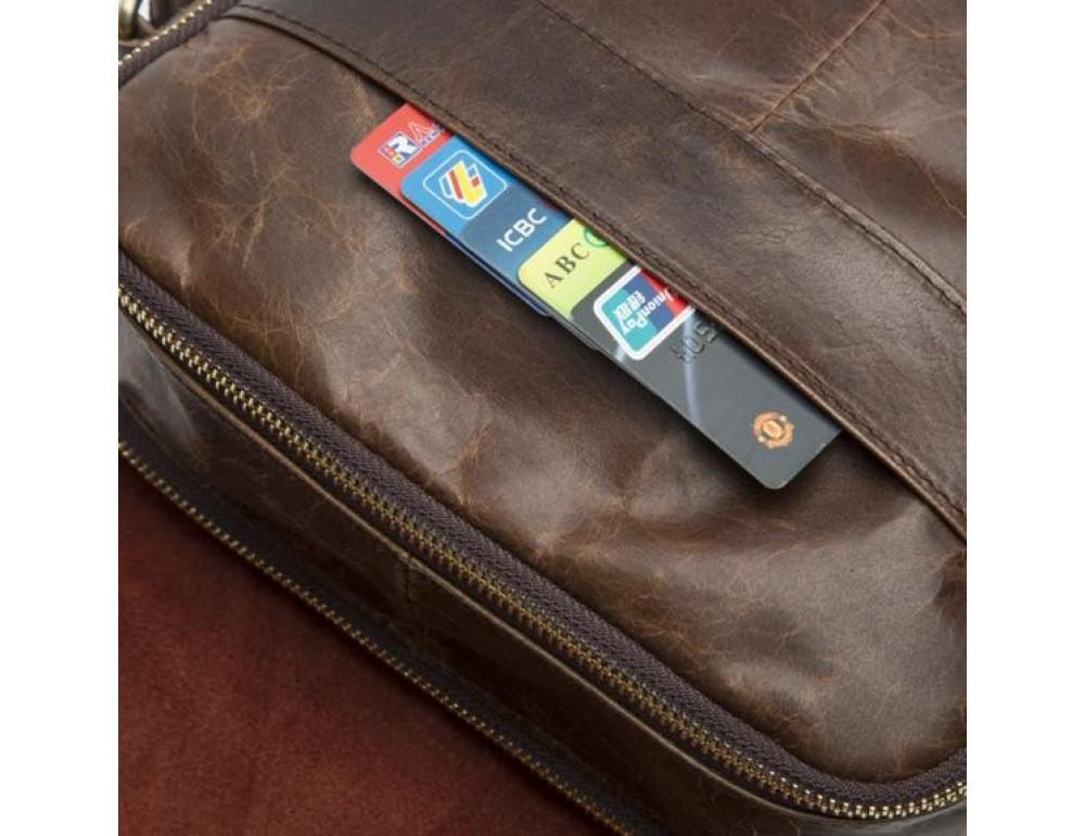 Мужская кожаная сумка-мессенджер Bexhill Bx1121C - Фото № 4