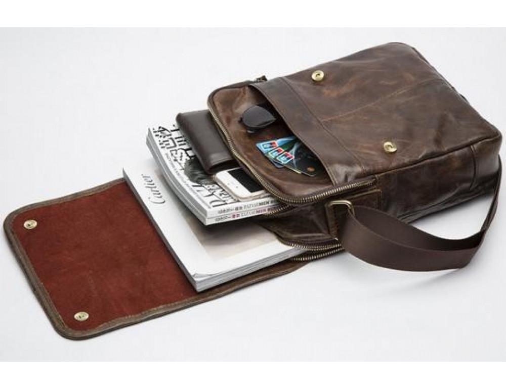 Мужская кожаная сумка-мессенджер Bexhill Bx1121C - Фото № 5