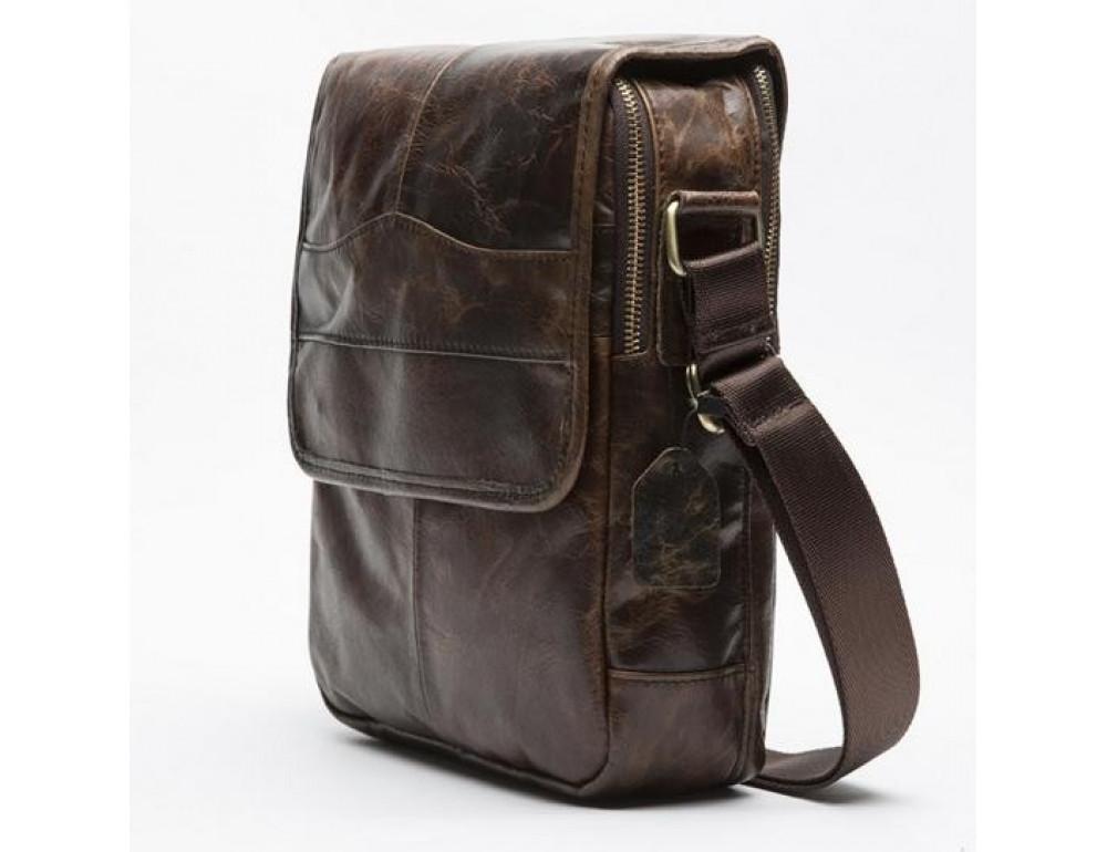 Мужская кожаная сумка-мессенджер Bexhill Bx1121C - Фото № 6