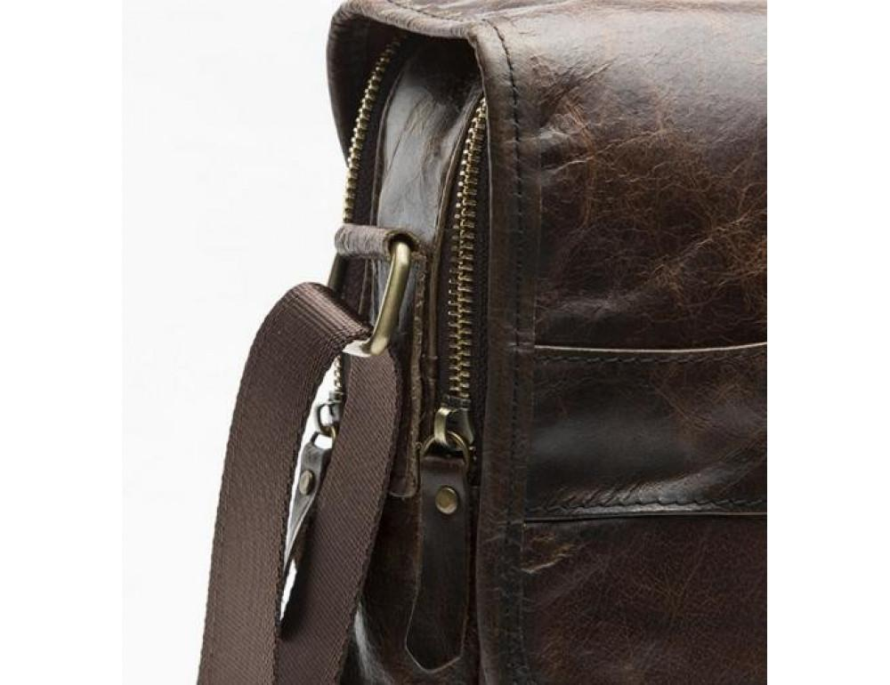 Мужская кожаная сумка-мессенджер Bexhill Bx1121C - Фото № 9