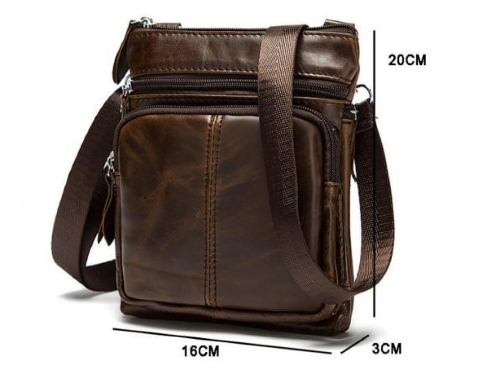 Мужская кожаная сумка-мессенджер Bexhill BX124 - Фото № 8