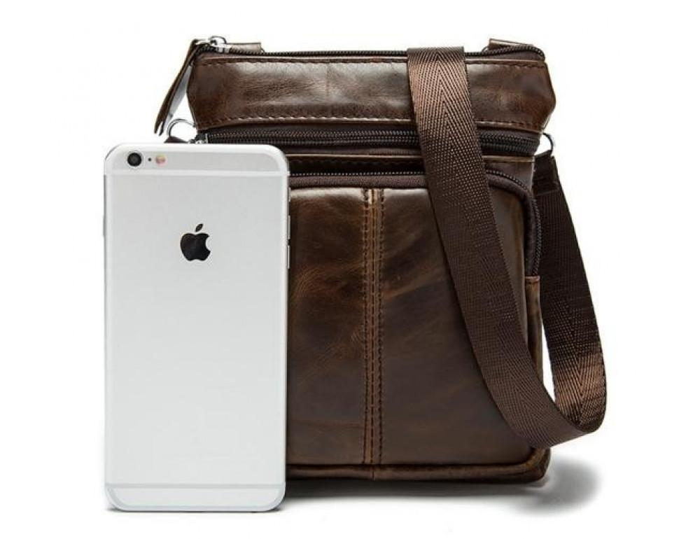 Мужская кожаная сумка-мессенджер Bexhill BX124 - Фото № 6