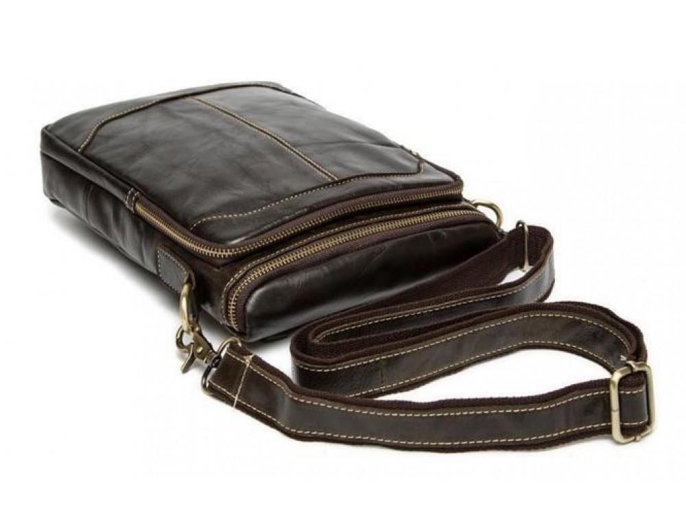 Чоловіча шкіряна сумка-месенджер Bexhill Bx207-1C коричнева - Фотографія № 10