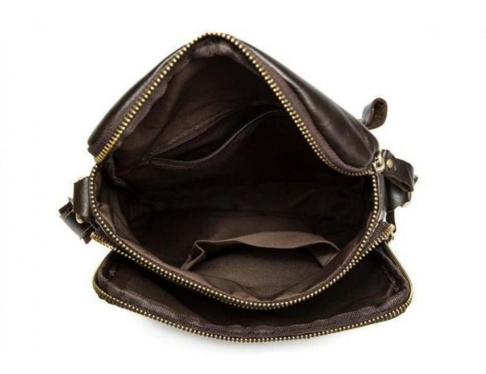 Чоловіча шкіряна сумка-месенджер Bexhill Bx207-1C коричнева - Фотографія № 9