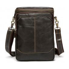 Чоловіча шкіряна сумка-месенджер Bexhill Bx207-1C коричнева