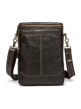 Мужская кожаная сумка-мессенджер Bexhill Bx207-1C коричневая