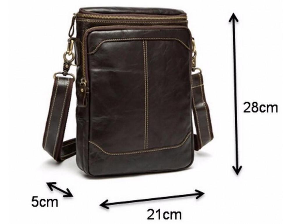 Чоловіча шкіряна сумка-месенджер Bexhill Bx207-1C коричнева - Фотографія № 7