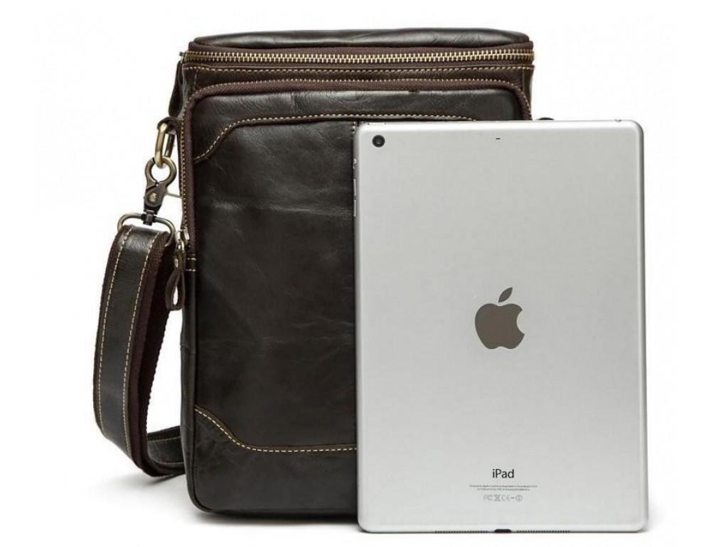 Чоловіча шкіряна сумка-месенджер Bexhill Bx207-1C коричнева - Фотографія № 2