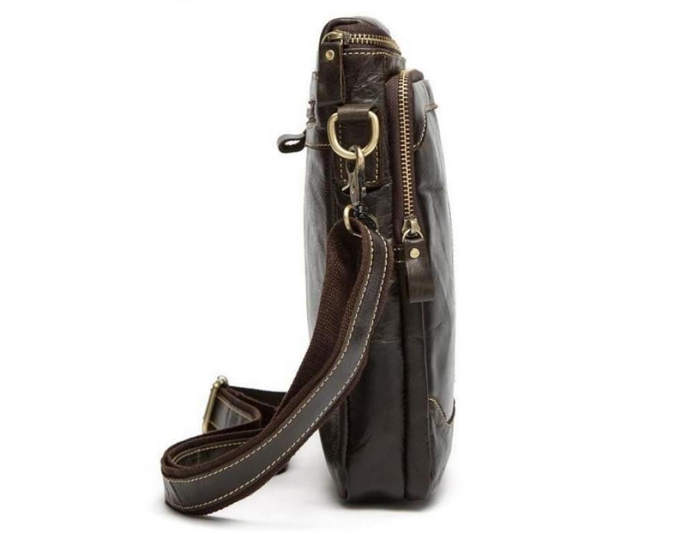 Чоловіча шкіряна сумка-месенджер Bexhill Bx207-1C коричнева - Фотографія № 3