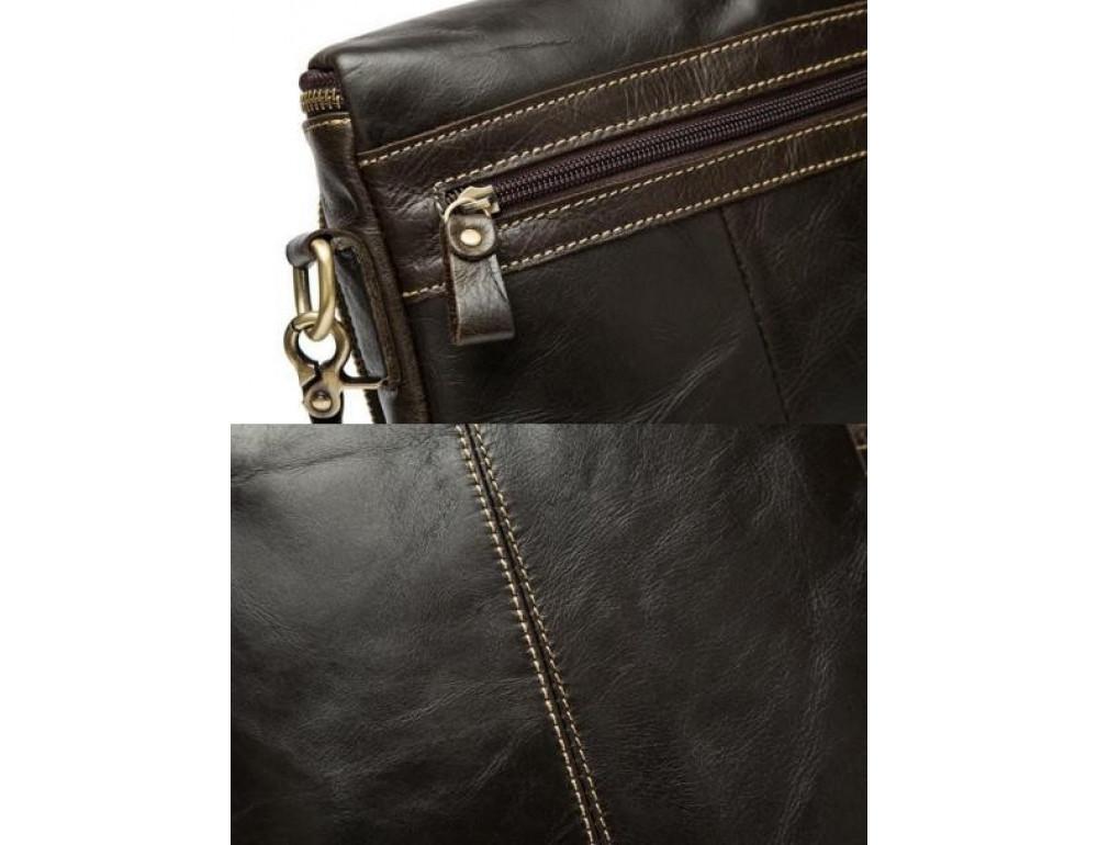 Чоловіча шкіряна сумка-месенджер Bexhill Bx207-1C коричнева - Фотографія № 5