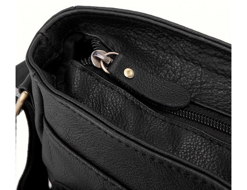 Чоловіча шкіряна сумка-месенджер Bexhill Bx819A чорний - Фотографія № 5