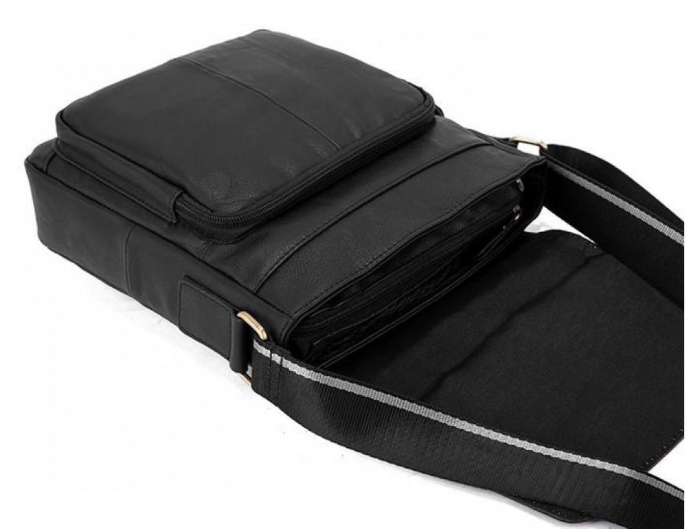 Чоловіча шкіряна сумка-месенджер Bexhill Bx819A чорний - Фотографія № 9