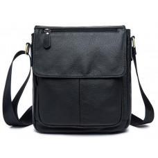 Чоловіча шкіряна сумка-месенджер Bexhill Bx819A чорний