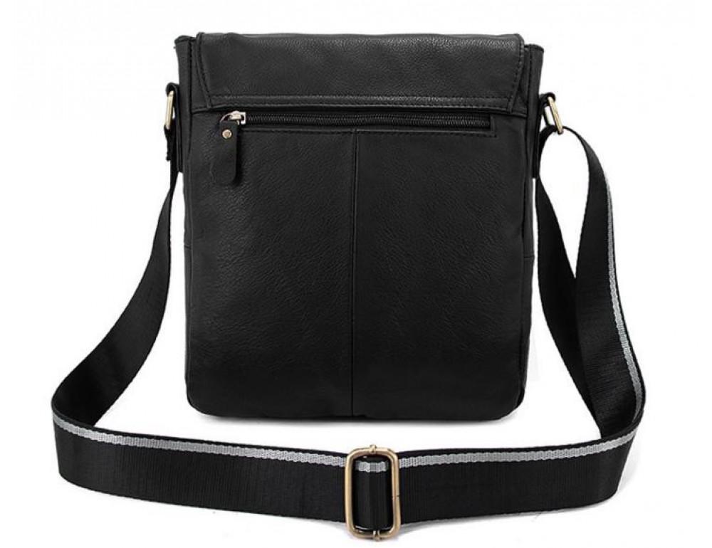 Чоловіча шкіряна сумка-месенджер Bexhill Bx819A чорний - Фотографія № 2
