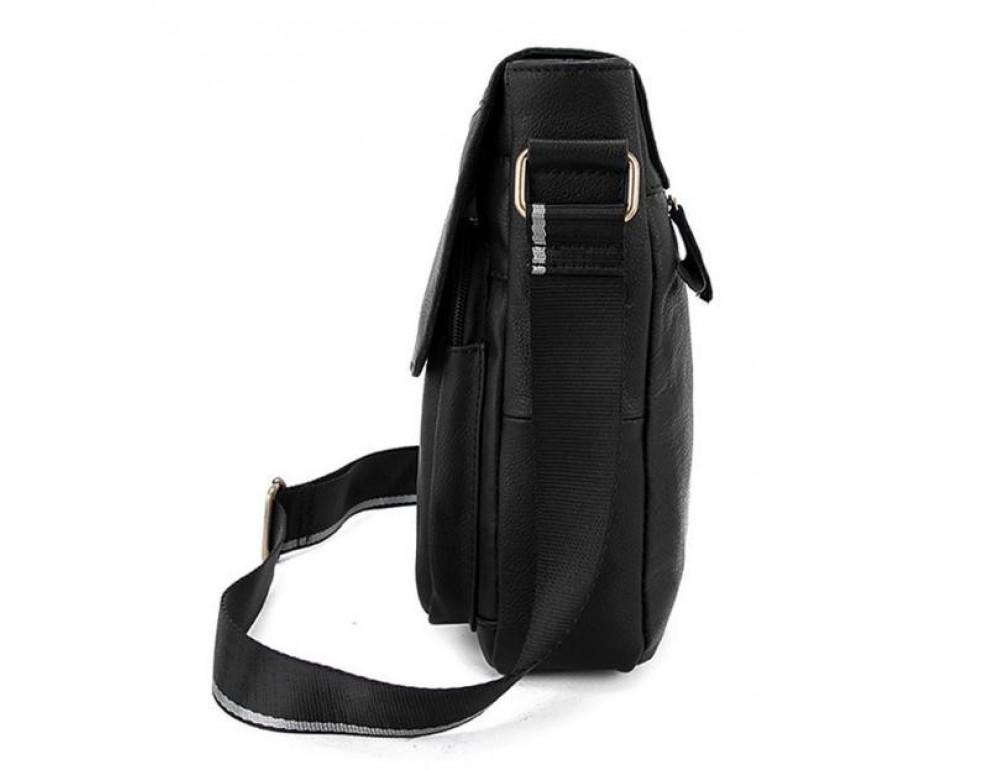 Чоловіча шкіряна сумка-месенджер Bexhill Bx819A чорний - Фотографія № 4