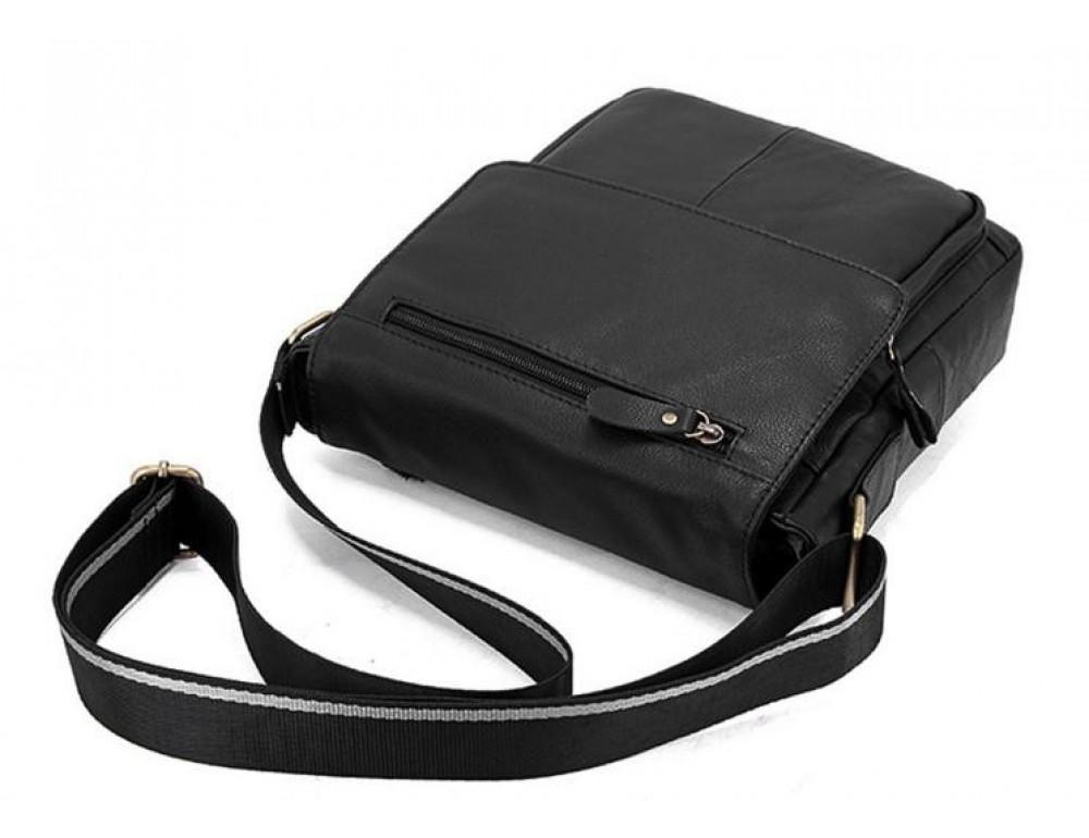 Чоловіча шкіряна сумка-месенджер Bexhill Bx819A чорний - Фотографія № 6