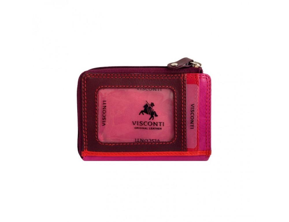 Женский кошелек-картхолдер RB110 PLUM M темно-красный - Фото № 3