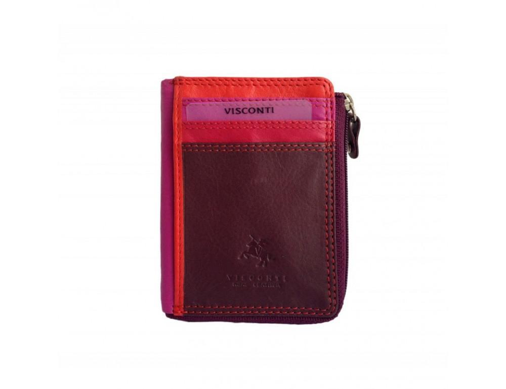 Женский кошелек-картхолдер RB110 PLUM M темно-красный - Фото № 4