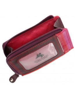 Жіночий гаманець-Картхолдер RB 110 Phi-Phi (plum / multi) темно-червоний / червоний / оранжевий,