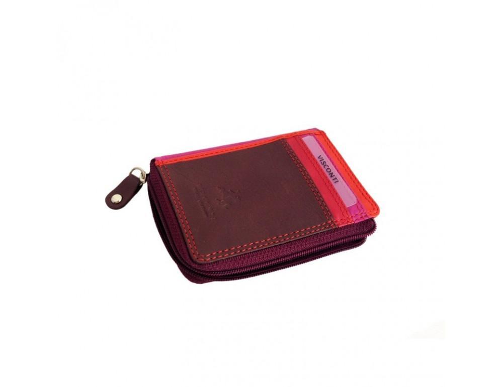 Женский кошелек-картхолдер RB110 PLUM M темно-красный - Фото № 5