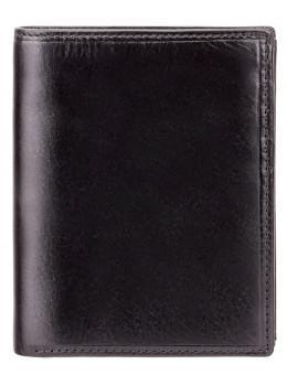 Мужской кожаный кошелек Visconti MZ3 IT BLK - Milan чёрный