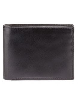 Чёрный мужской кожаный портмоне без защёлки Visconti MZ4 IT BLK Lazio c RFID