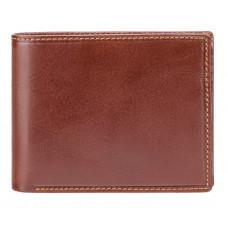 Коричневый мужской портмоне из гладкой кожиVisconti MZ4 IT BRN Lazio c RFID