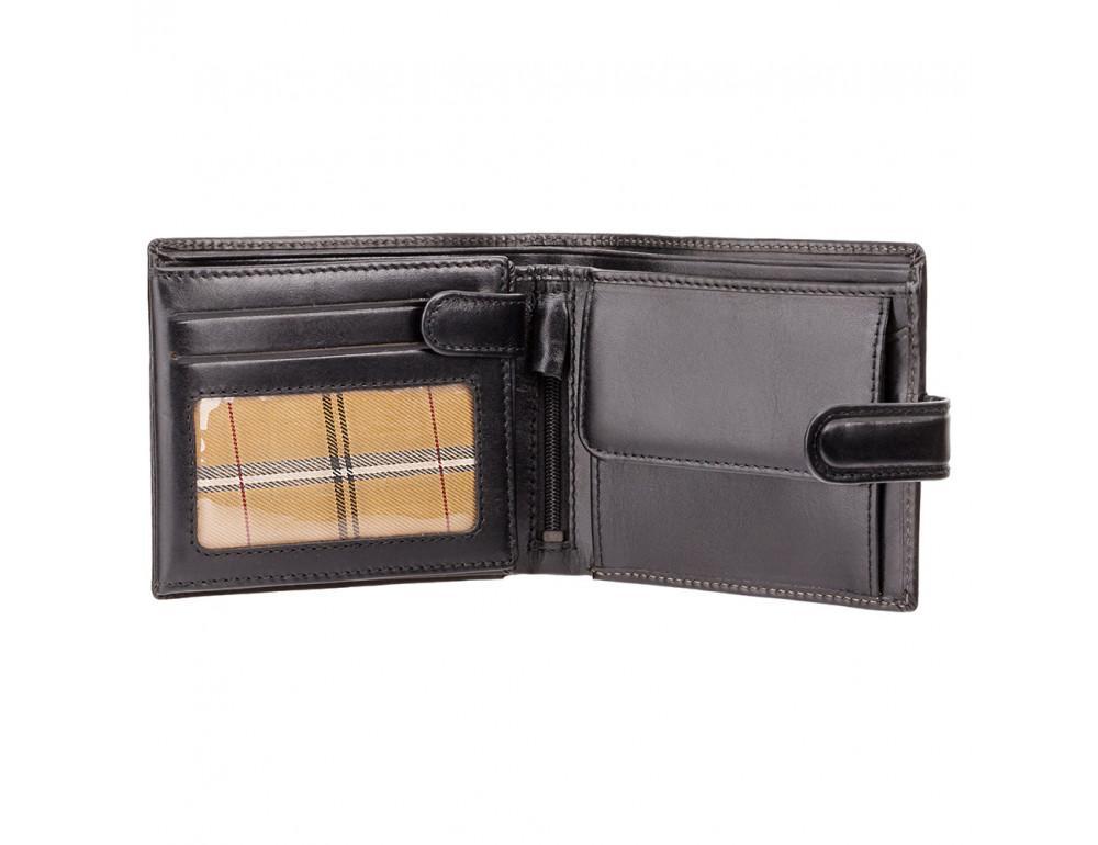 Чёрный мужской кожаный кошелек Monza Visconti MZ5 IT BLK  - Фото № 2