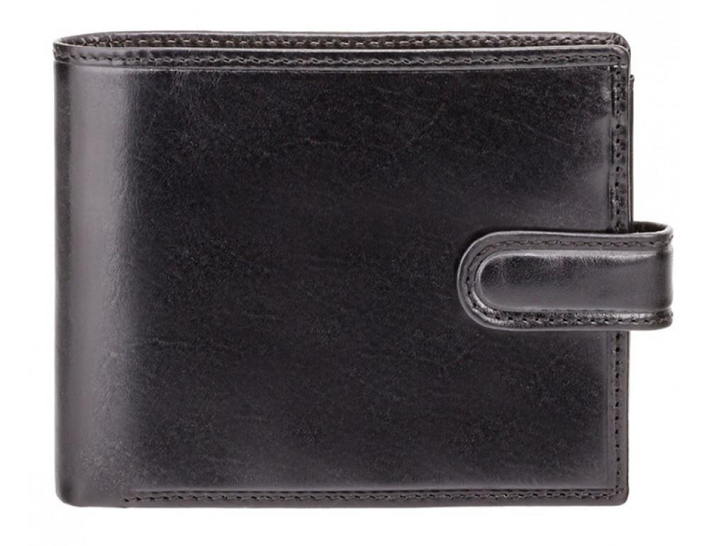 Чёрный мужской кожаный кошелек Monza Visconti MZ5 IT BLK  - Фото № 1