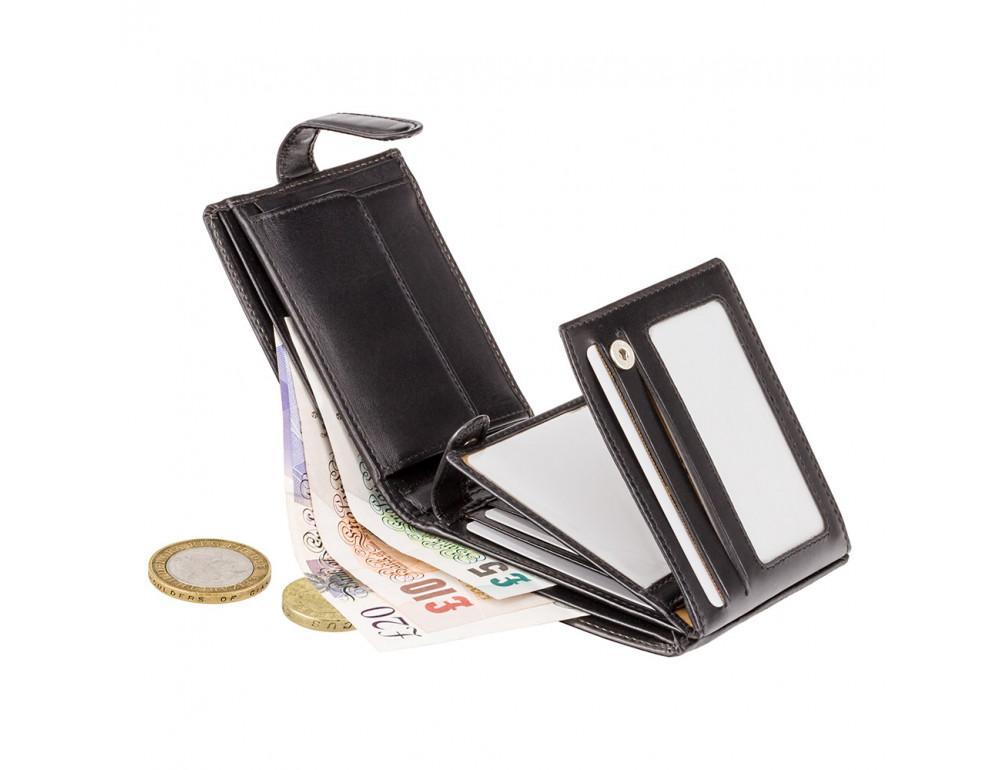 Чёрный мужской кожаный кошелек Monza Visconti MZ5 IT BLK  - Фото № 5
