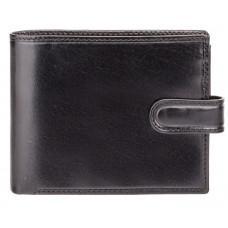 Чорний чоловічий шкіряний гаманець Monza Visconti MZ5 IT BLK