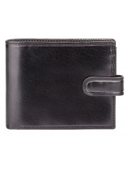 Чёрный мужской кожаный кошелек Monza Visconti MZ5 IT BLK