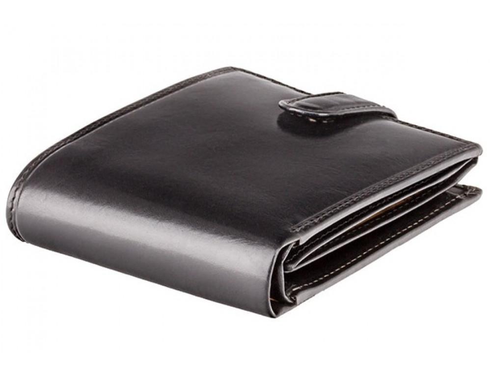 Чёрный мужской кожаный кошелек Monza Visconti MZ5 IT BLK  - Фото № 6