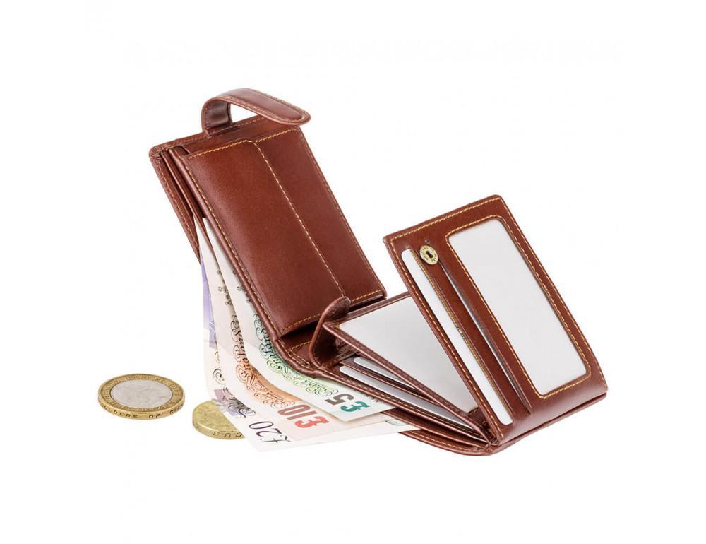 Мужской кожаный кошелек Visconti MZ5 IT BRN коричневый - Фото № 3