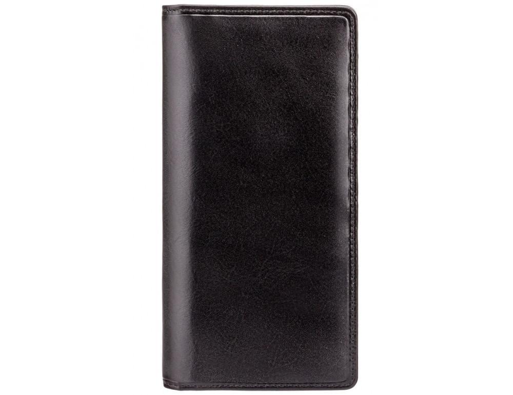 Чёрный кошелек мужской Visconti MZ6 Turin c RFID Italian Black - Фото № 1