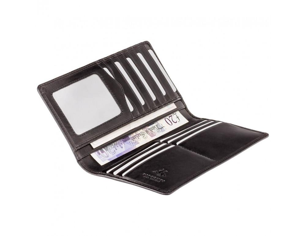 Чёрный кошелек мужской Visconti MZ6 Turin c RFID Italian Black - Фото № 3